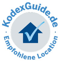 "The logo of the ""KodexGuide"", which identifies the Platzl Hotel Munich as a recommended location"