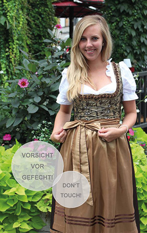 Lady wearing a typical Bavarian costume